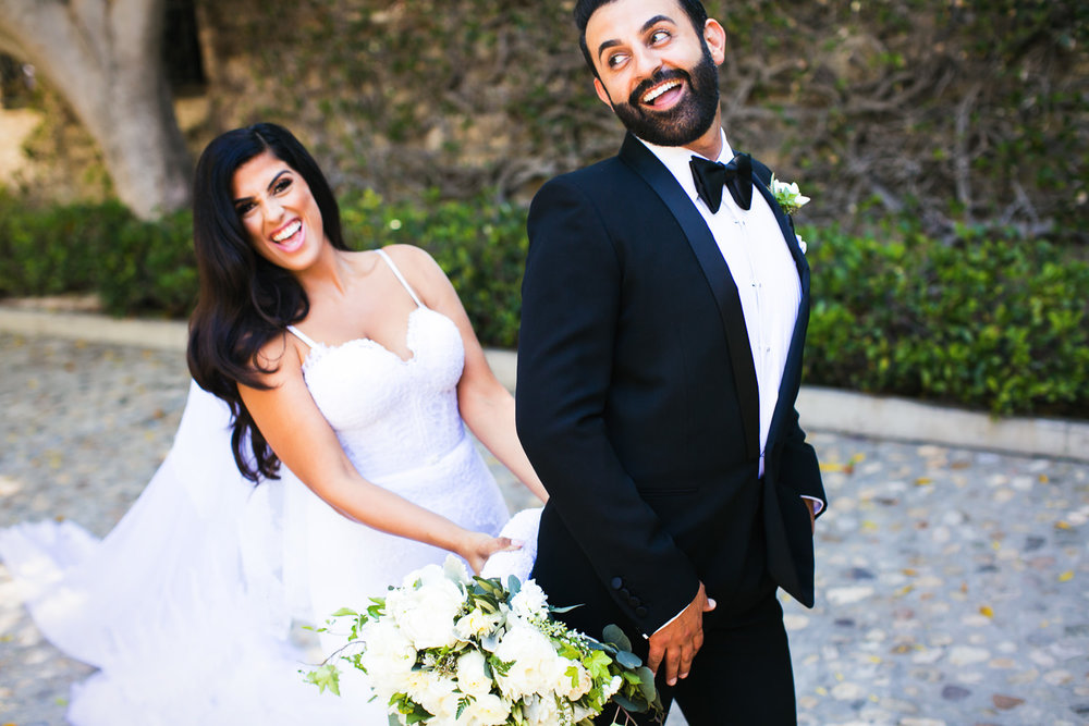 Hummingbird Nest Ranch Wedding - Persian Couple Being Playful