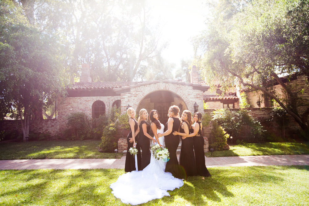 Hummingbird Nest Ranch Wedding - Persian Bridal Party