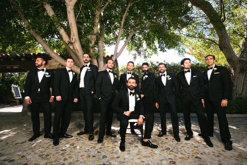 Hummingbird Nest Ranch Wedding - Persian Groomsmen Portrait