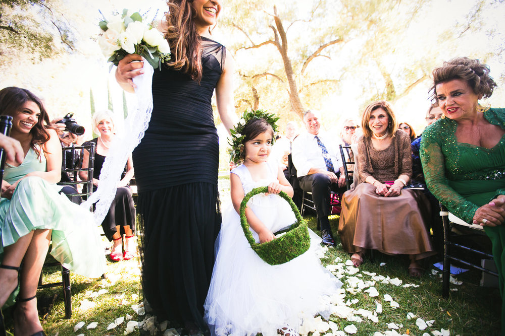 Hummingbird Nest Ranch Wedding - Persian Wedding Flower Girl