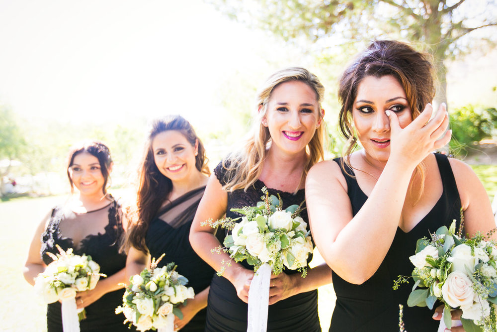 Hummingbird Nest Ranch Wedding - Persian Wedding Bridesmaids