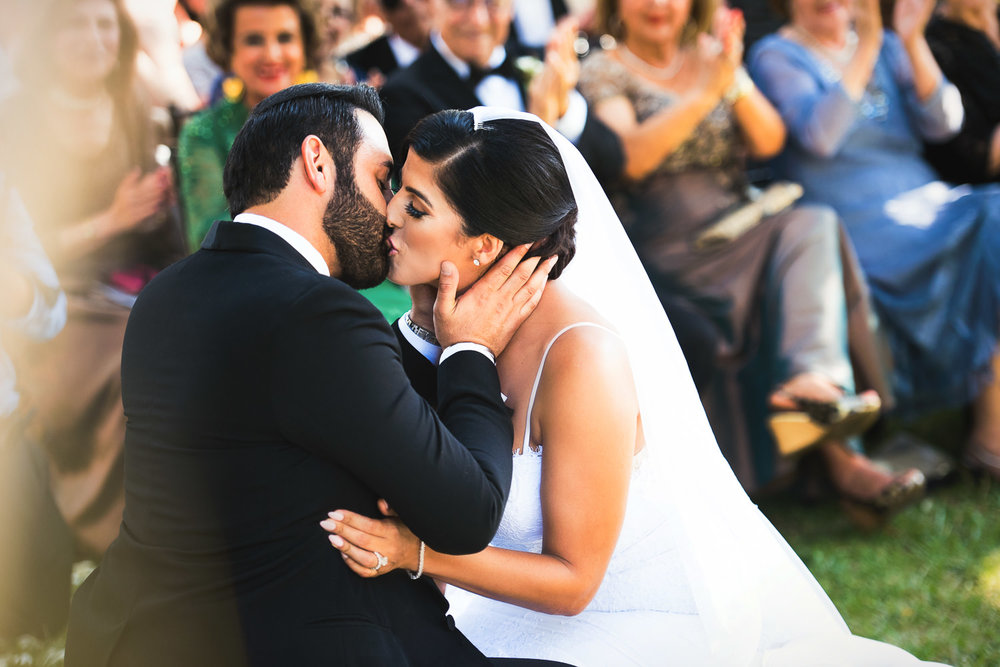 Hummingbird Nest Ranch Wedding - Kissing The Bride