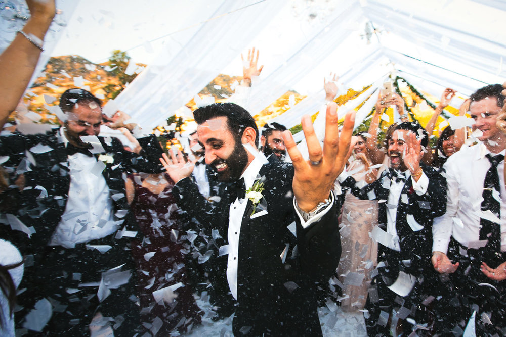Hummingbird Nest Ranch Wedding - Persian Groom In Confetti