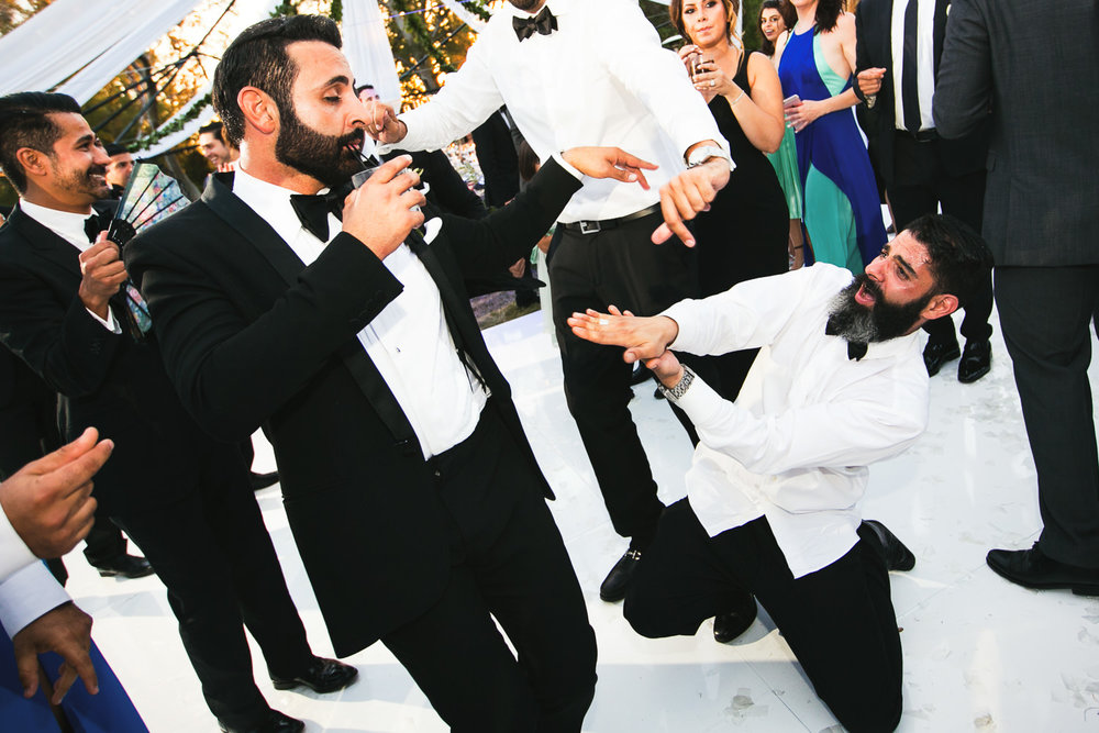 Hummingbird Nest Ranch Wedding - Persian Groom With Friends