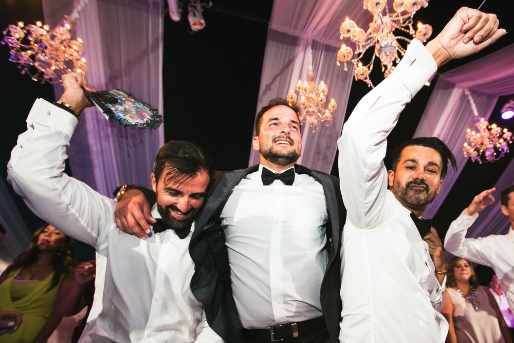 Hummingbird Nest Ranch Wedding - Persian Groom With Groomsmen Dancing