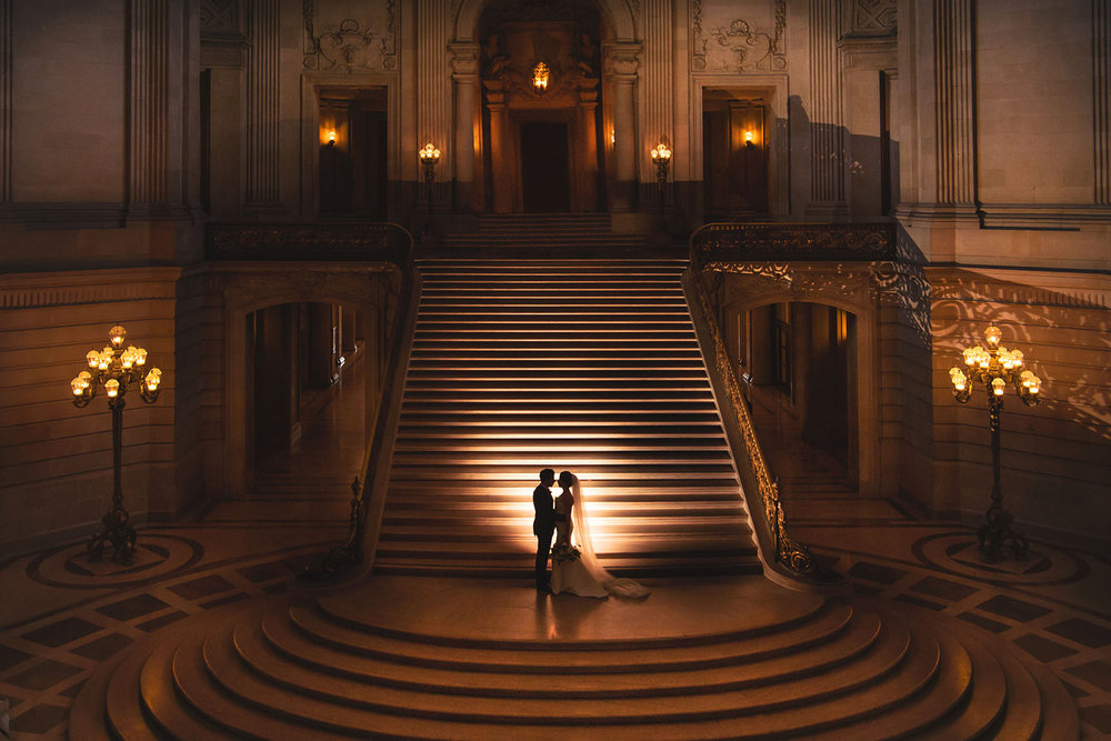 Creative San Francisco City Hall wedding