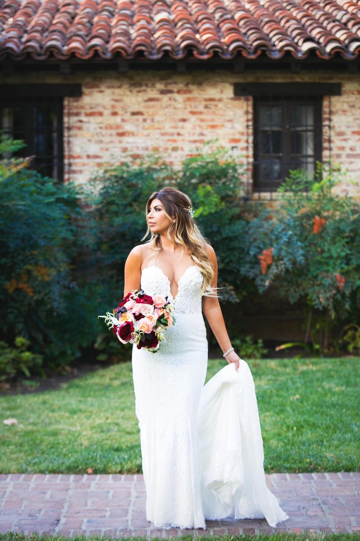 stunning bride at Hummingbird Nest wedding by Callaway Gable