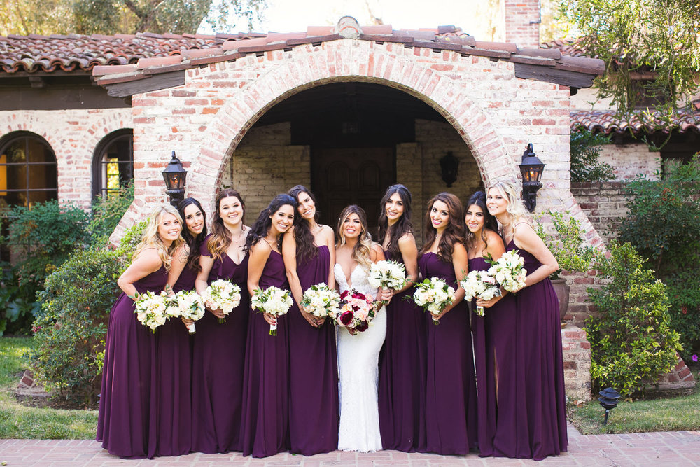 Bridesmaids at Hummingbird Nest wedding by Callaway Gable