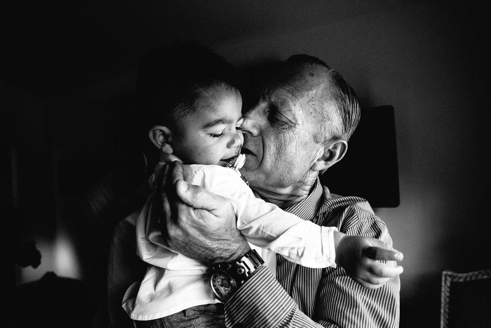 Grandpa and his grandson at Hummingbird Nest wedding by Callaway Gable