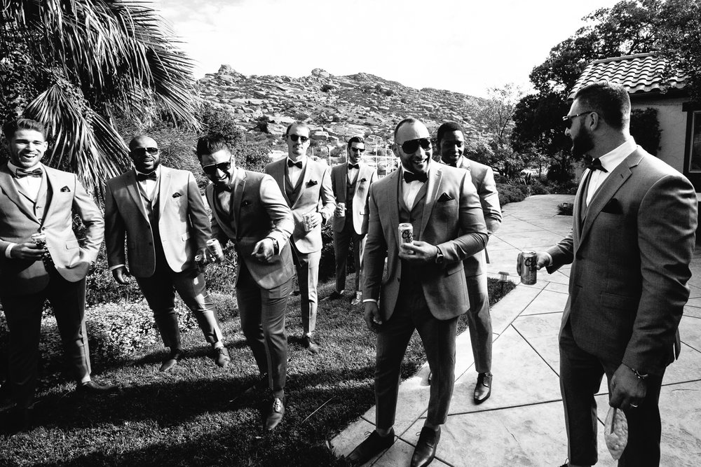 Groomsmen at Hummingbird Nest wedding by Callaway Gable