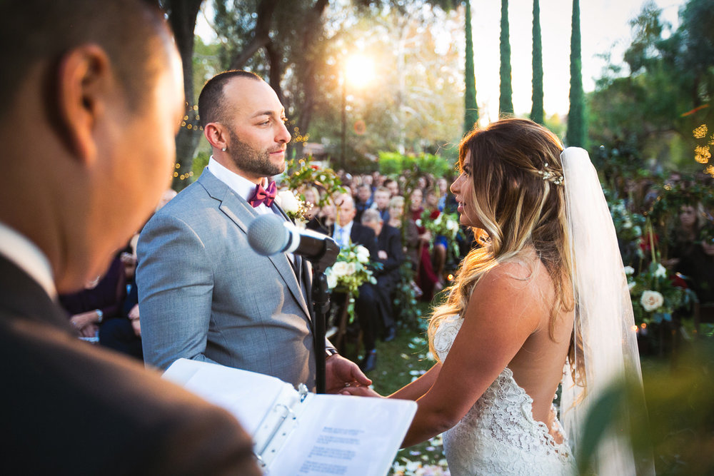 Delivering Vows at Their Hummingbird Nest Wedding by Callaway Gable