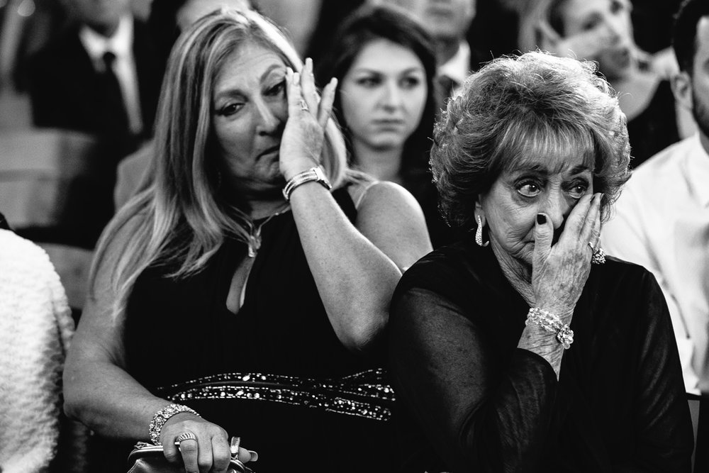 grandparents crying at Hummingbird Nest wedding by Callaway Gable