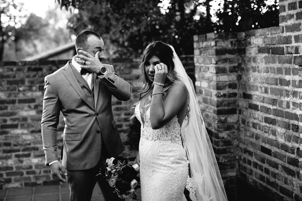 Tears of joy at Hummingbird Nest wedding by Callaway Gable