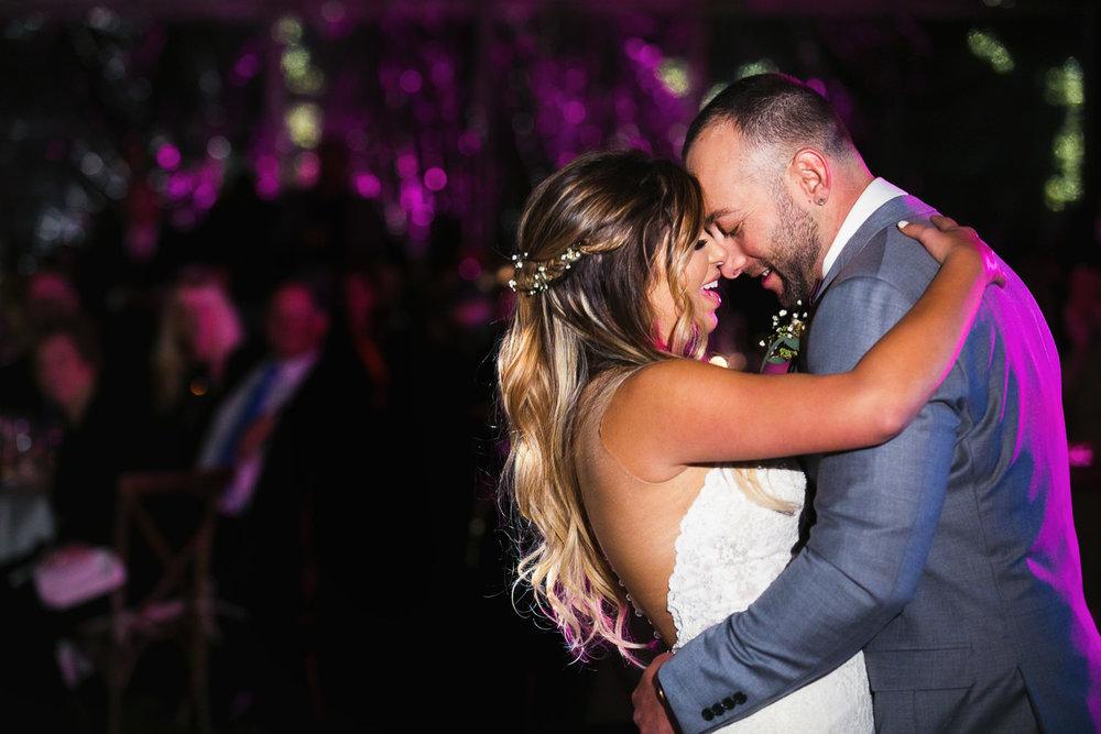 emotional first dance at Hummingbird Nest wedding by Callaway Gable