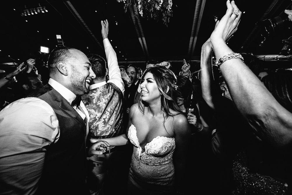 Crazy dancing at Hummingbird Nest wedding by Callaway Gable