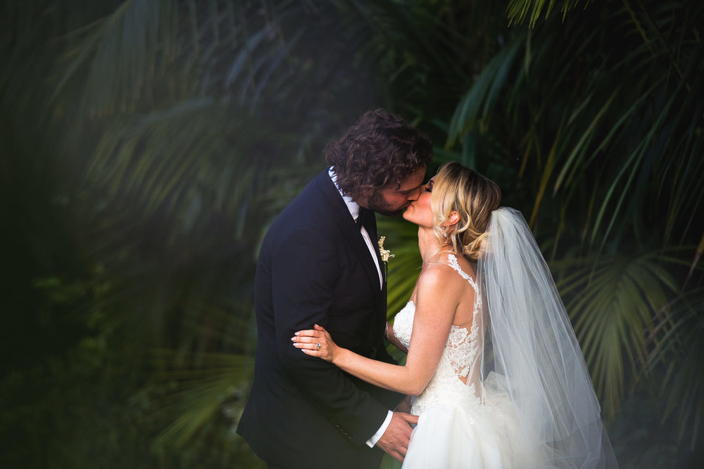 Four Seasons Santa Barbara Wedding - Couple Kissing