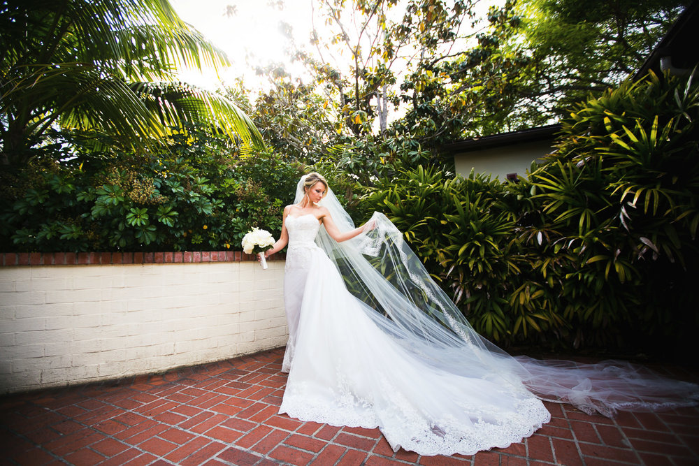 Four Seasons Santa Barbara Wedding - Amazing Wedding Dress