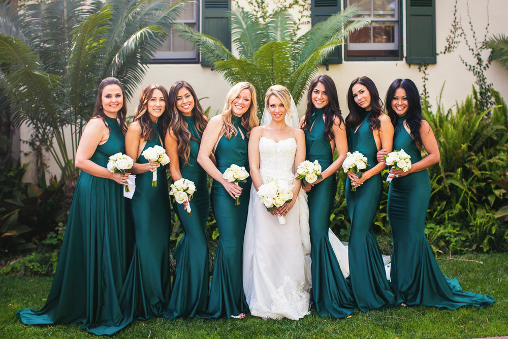 Four Seasons Santa Barbara Wedding - Bridal Party Portrait