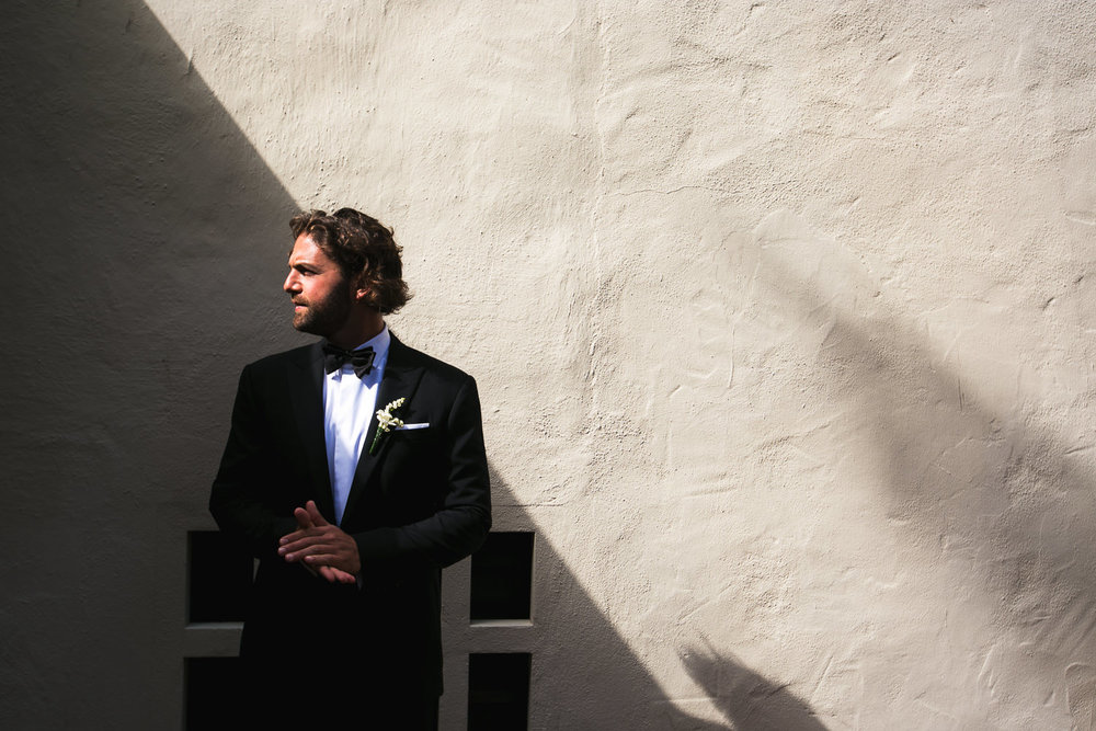 Four Seasons Santa Barbara Wedding - Groom Outside