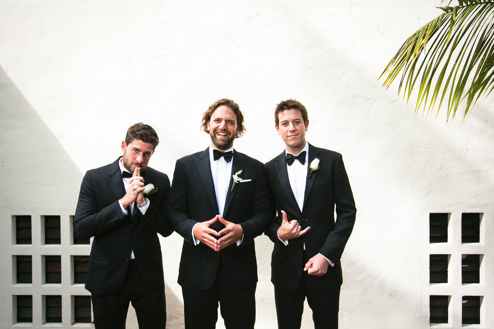 Four Seasons Santa Barbara Wedding - Groomsmen Portrait