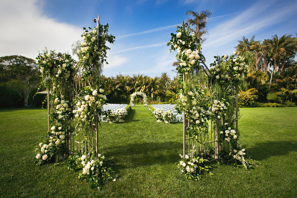Four Seasons Santa Barbara Wedding - Wedding Ceremony Decor