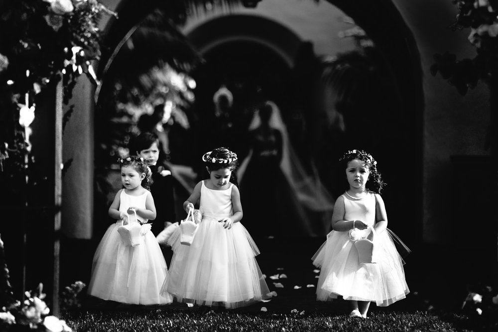 Four Seasons Santa Barbara Wedding - Cute Flower Girls