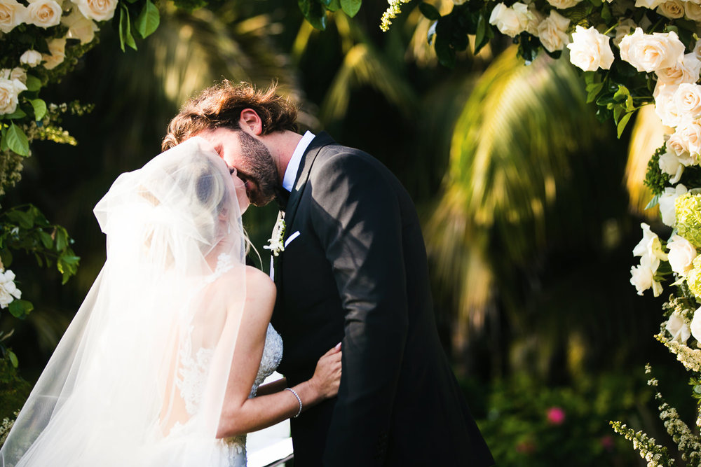 Four Seasons Santa Barbara Wedding - Kissing The Bride