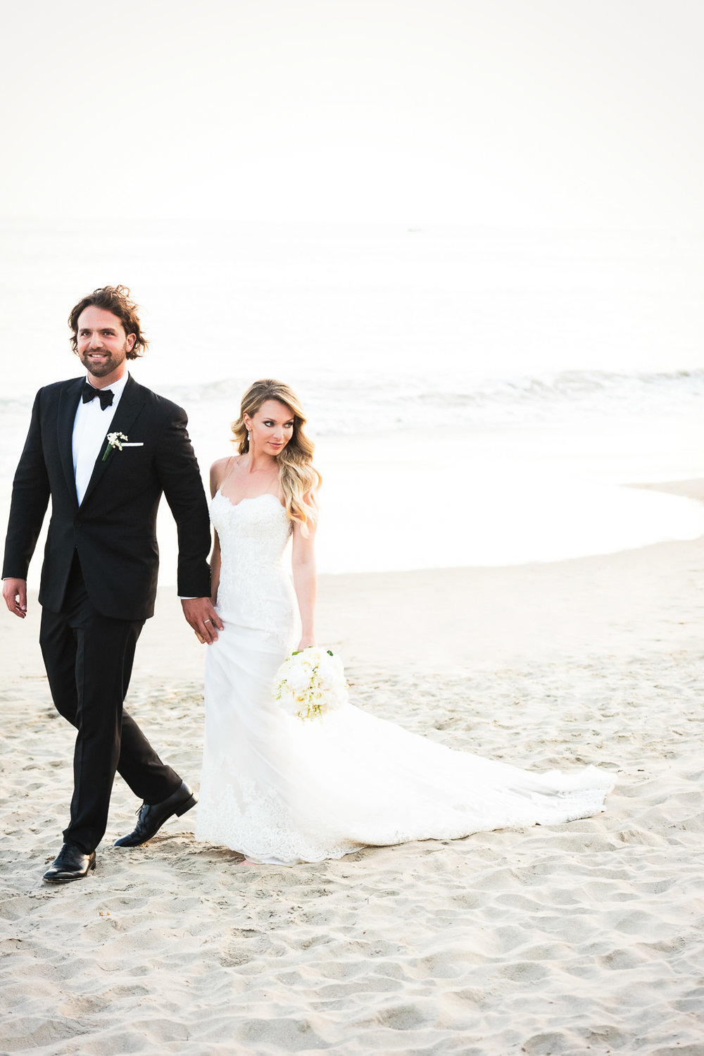 Four Seasons Santa Barbara Wedding - Walking On The Beach