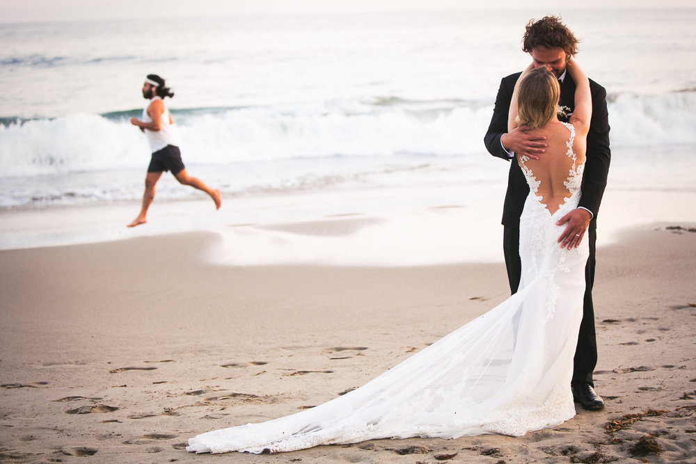 Four Seasons Santa Barbara Wedding - Kiss on the Beach