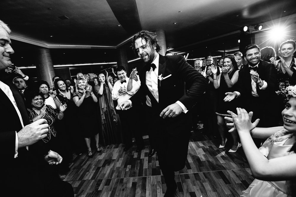 Four Seasons Santa Barbara Wedding - Groom Dancing