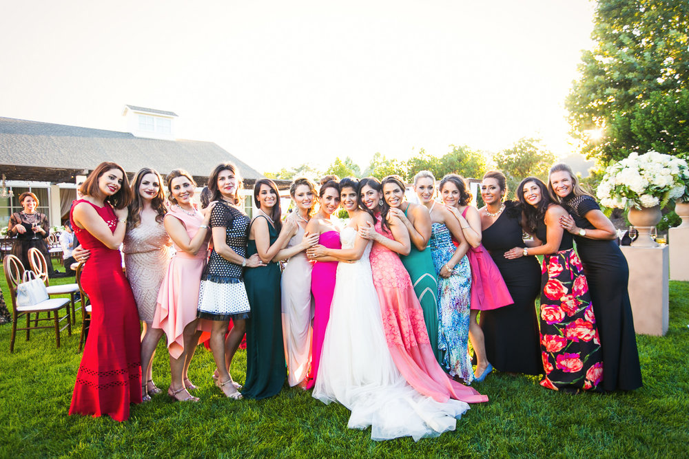 Bridal party at Solage wedding in Calistoga