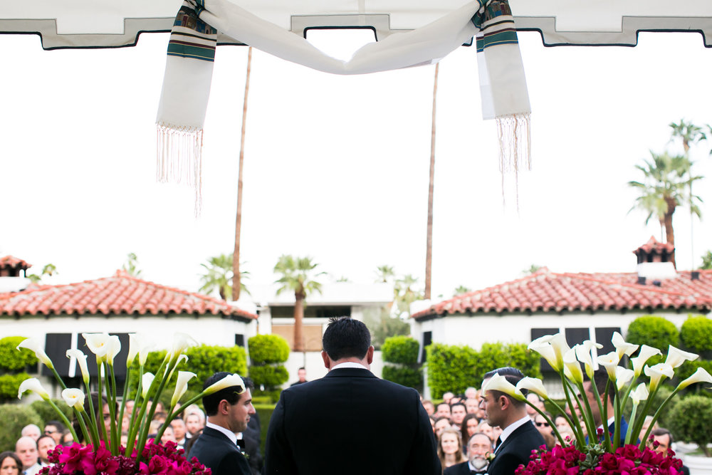 Same Sex Avalon Palm Springs Wedding - Ceremony Being Held