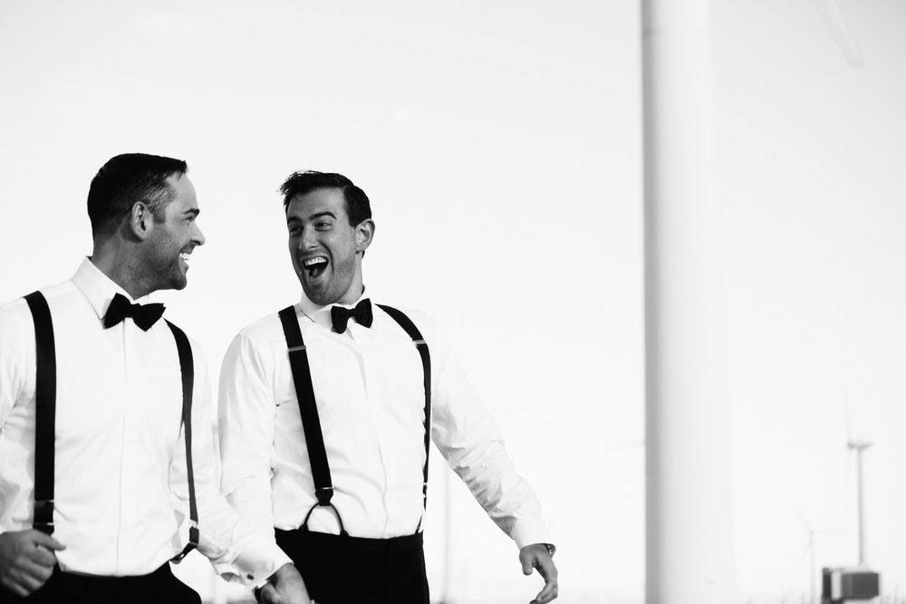 Same Sex Avalon Palm Springs Wedding - Portrait Black And White