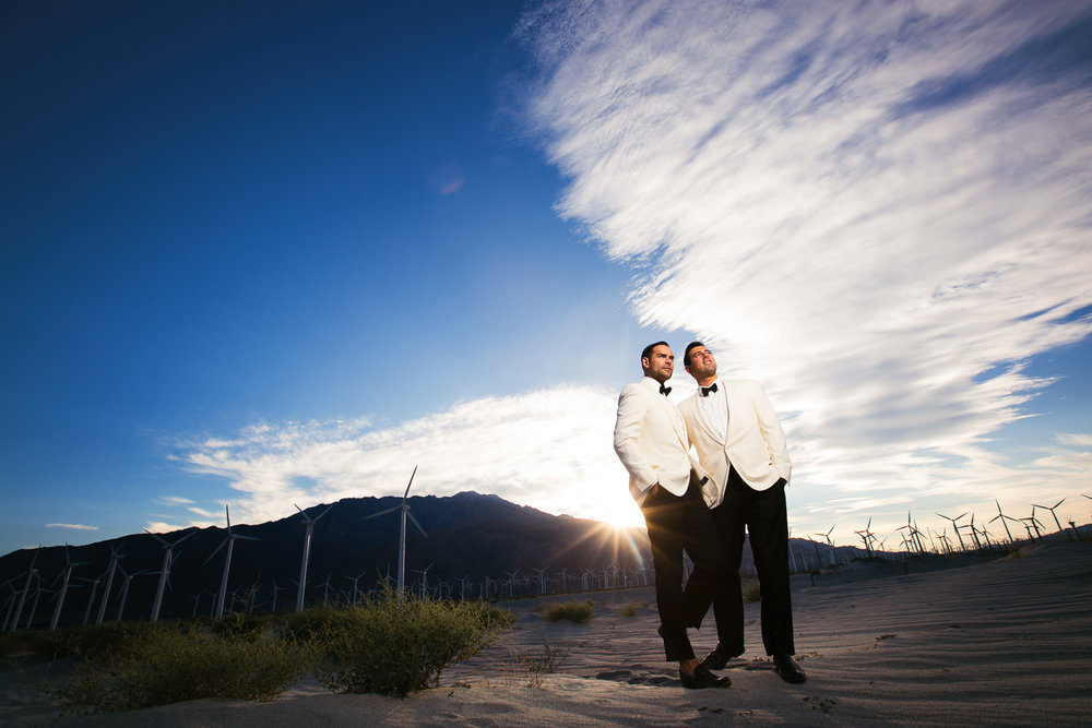 Same Sex Avalon Palm Springs Wedding - Under the beautiful sky together