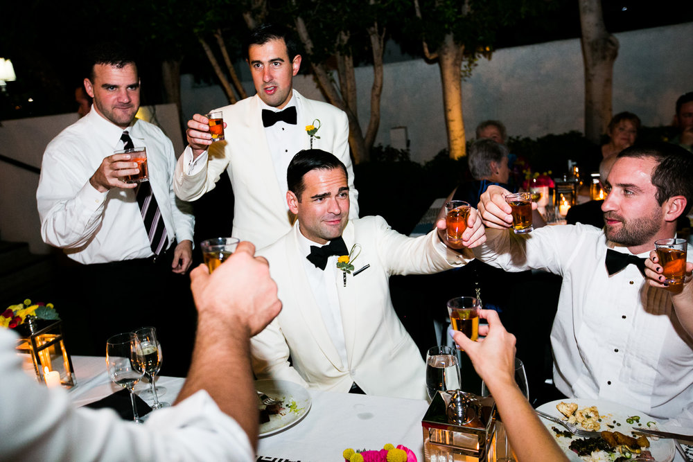 Same Sex Avalon Palm Springs Wedding - Sharing Drinks With Friends and Family