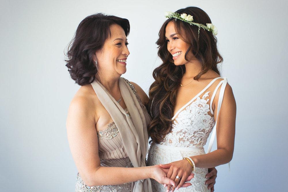 Los Olivos Wedding - Bride With Mother