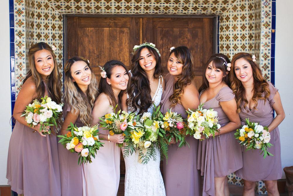 Los Olivos Wedding - Bridal Party in Soft Light