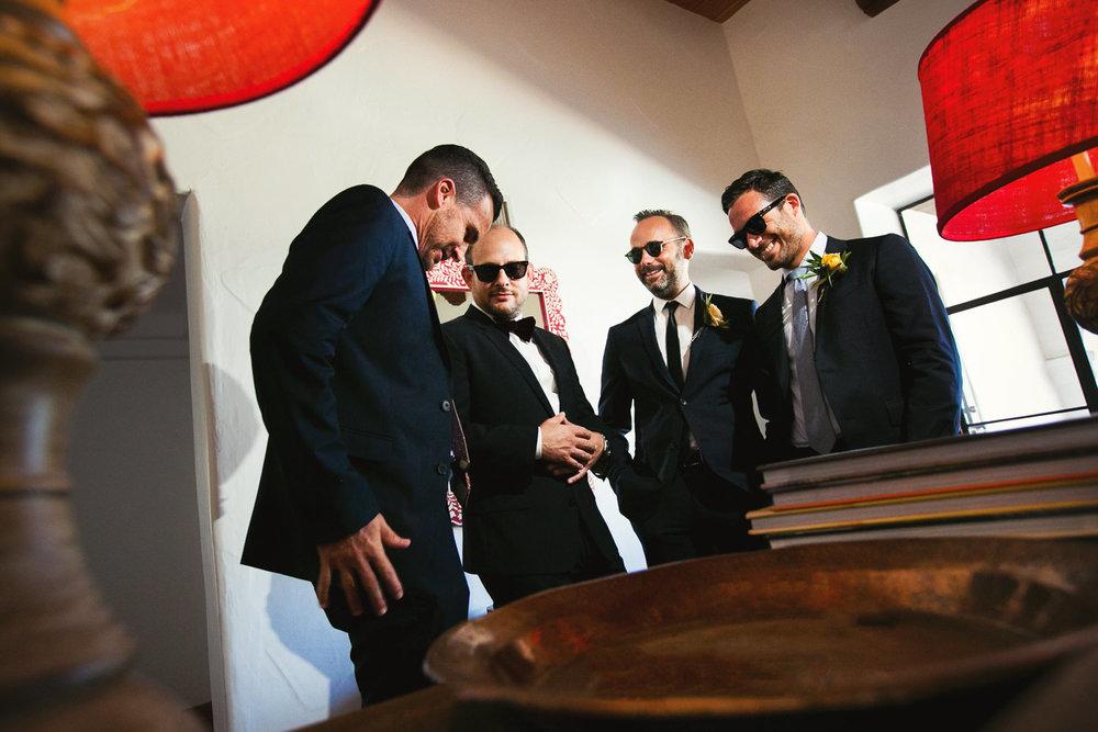 Los Olivos Wedding - Groomsmen in Soft Light