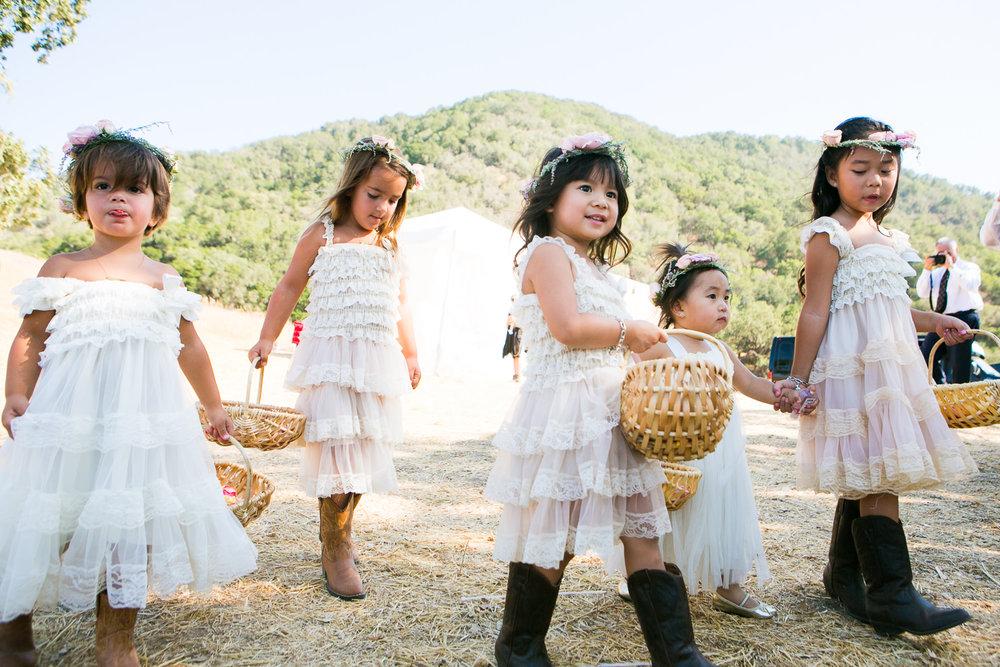 Los Olivos Wedding - Pretty Flower Girls