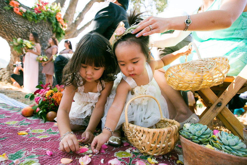 Los Olivos Wedding - Natural Light on the Flower Girls