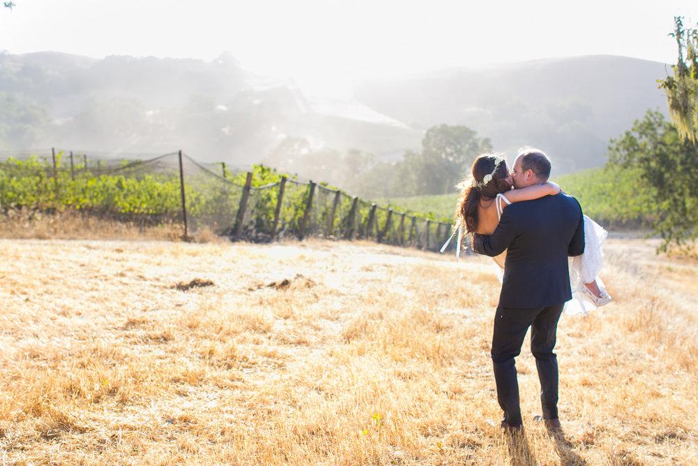Los Olivos Wedding - Carrying Bride Away Softly