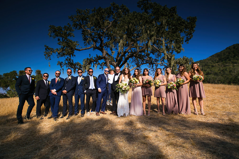 Los Olivos Wedding - Natural Light for Groomsmen and Bridesmaids