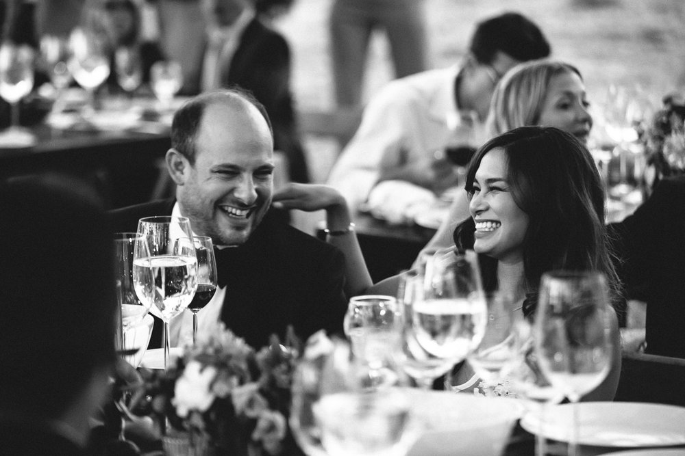 Los Olivos Wedding - Black and White of Newly Weds