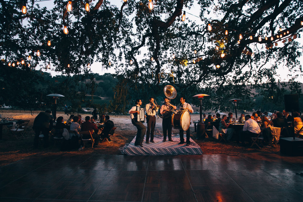 Los Olivos Wedding - Band playing in soft natural light