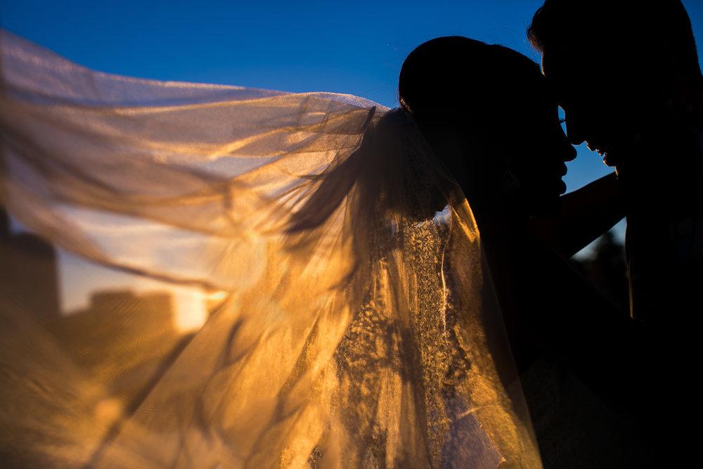 City Club LA wedding - Embracing Under The Sky