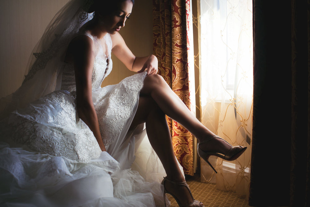 City Club LA wedding - Bride Getting Ready