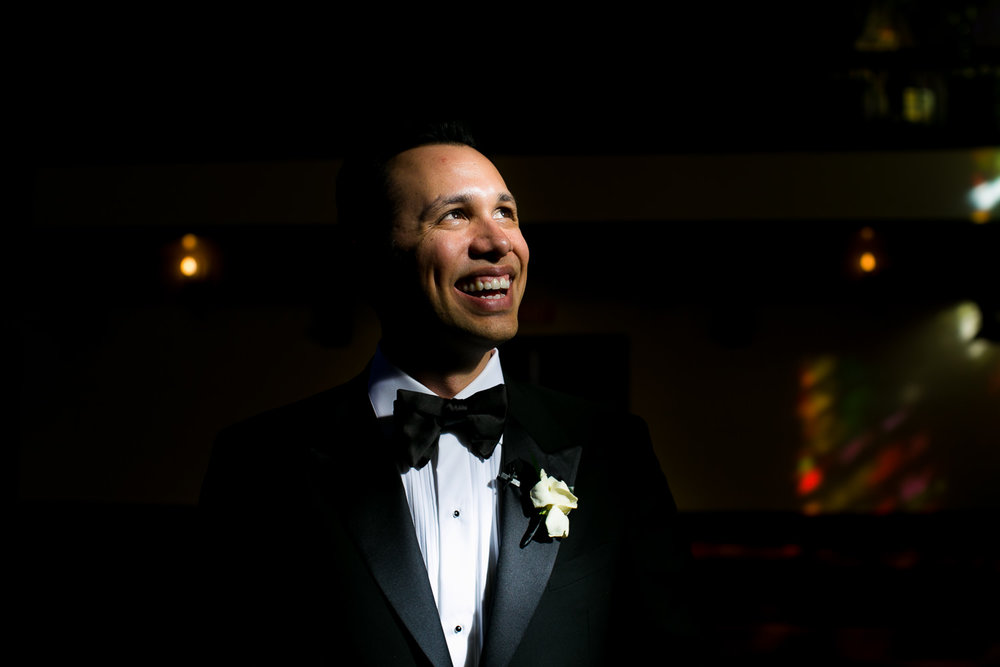 City Club LA wedding - Groom Portrait
