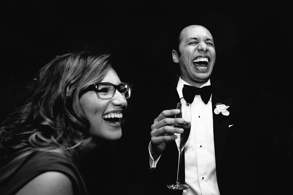 City Club LA wedding - Laughing at the toast