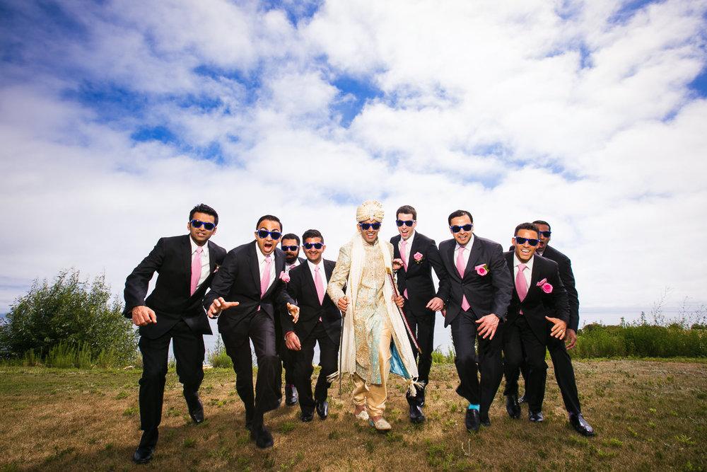 South Asian Trump National Golf Club Wedding - Groomsmen