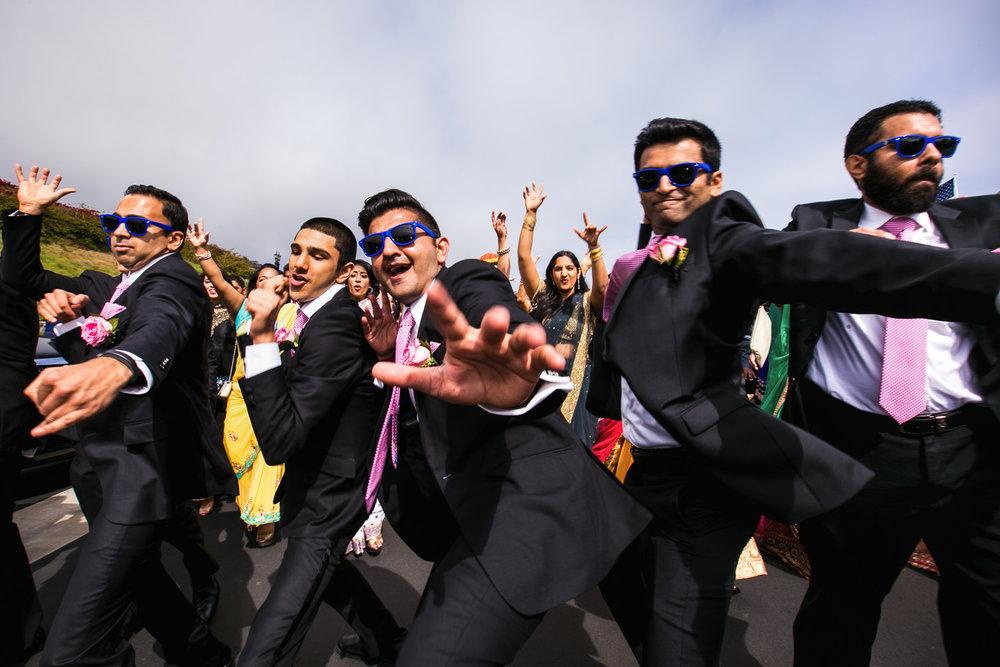 South Asian Trump National Golf Club Wedding - Groomsmen Dancing